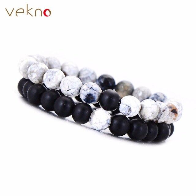 vekno male quartz agates bracelets couple gifts stylish stretch