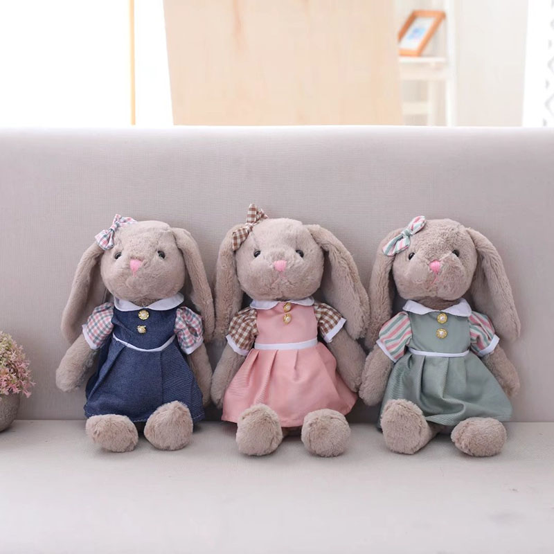 Cute Rabbit Plush Toy Bunny With Skirt Doll Stuffed Soft Animal Doll High Quality Kids Girls Birthday Gift 2 3 4 5 6 7 8 years girls dress thick velvet autumn winter kids dresses for girls ruffles long sleeve children princess clothing