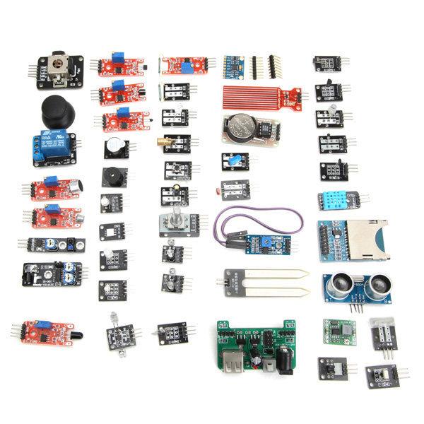 45 Em 1 Kit de Sensor Módulo Board Versão de Atualização Para o sensor de Arduino para treinamento aprendizagem 45in1 DIY Frete Grátis