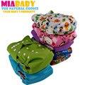 Miababy os bolso fralda de pano de algodão de bambu, descontado fralda, não mais uma vez que a venda para fora, fits 3-15kgs, sem qualquer tipo de inserção.