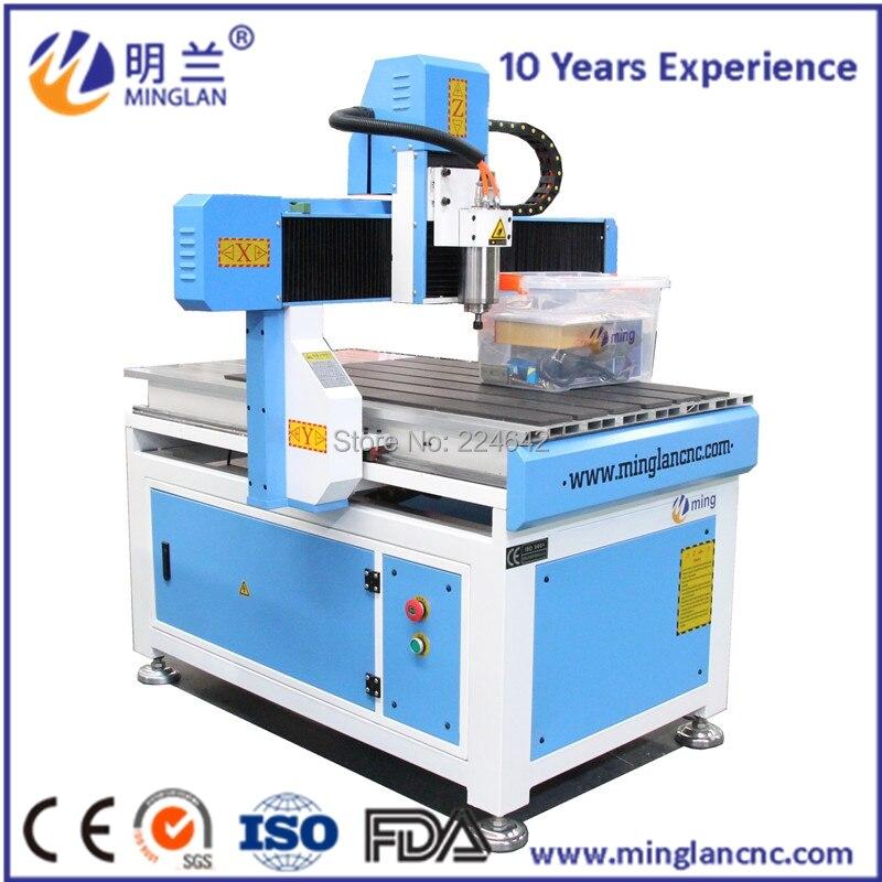 Petit CNC routeur 4040 6060 6090 1212 CNC machine broche de refroidissement par eau DSP contrôle machine de gravure sur bois
