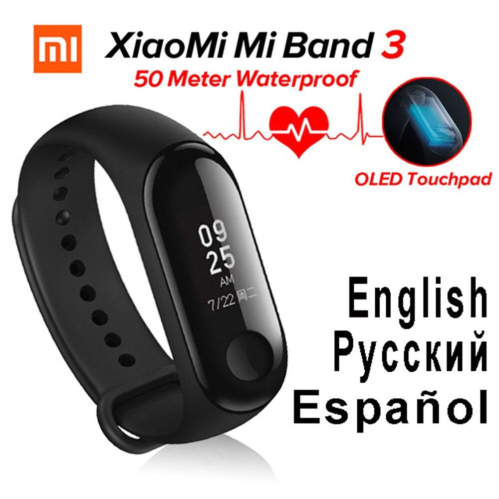D'origine miband3 xaomi bande 3 de Fréquence Cardiaque Moniteur Cardiaco Xiaomi Mi bande 3 mi fit Fitness Tracker Xiomi bande À Puce Bracelet