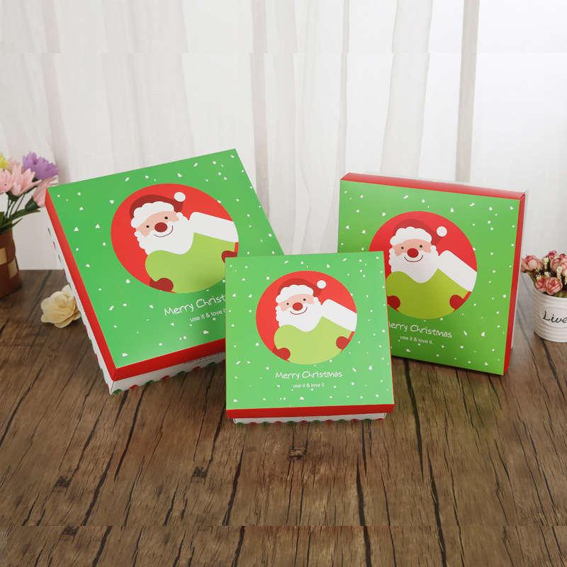 Doreenbeads складной Бумага коробка Новогодние товары Apple конфеты cookie поле Санта Клаус узор День рождения подарок сумка около 18*18*8.5 см 1 шт.