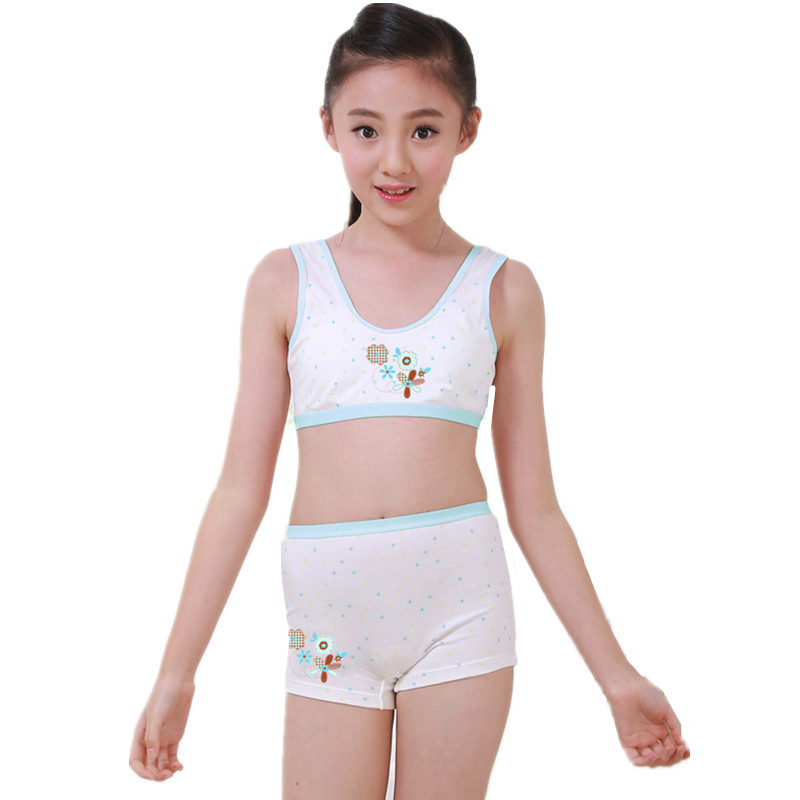 Puberty teenager tank tops underwear set for girls children sports camisole  boxer panties for puberty kids girls cosy undies Tanks & Camis  - AliExpress