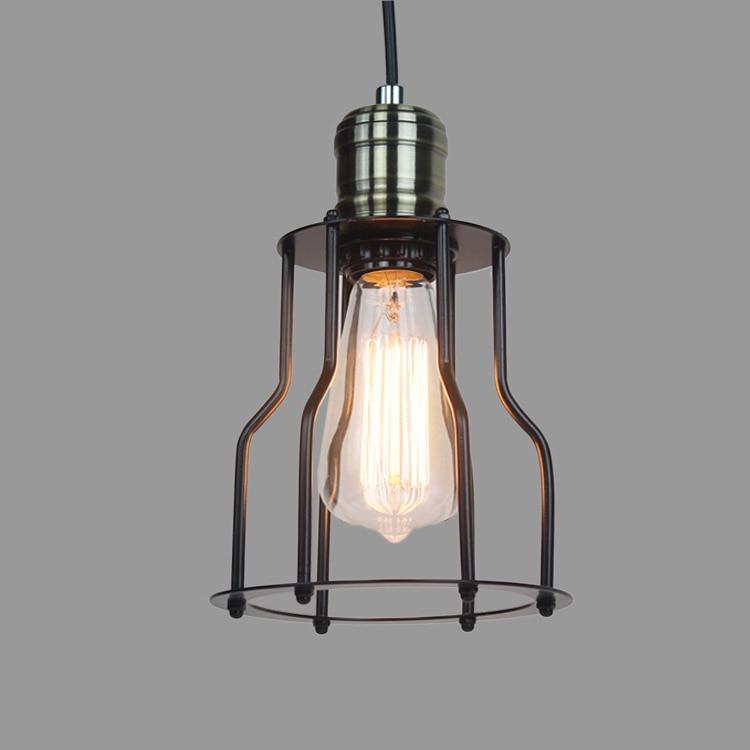 Loft Pendant Lights Industrial Lamp American Industrial style Iron Shelf Pendant Light Vintage Pendant Lamp