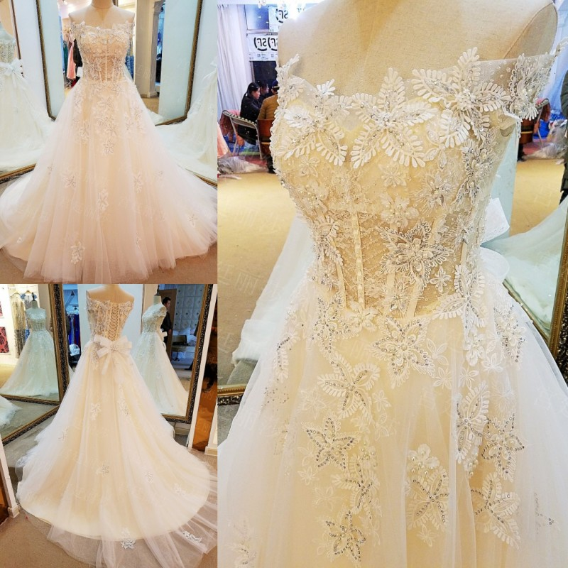 lace wedding dress 2017 lace up back sweeheart a line luxury corsets