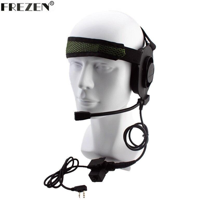Tactical Bowman Elite II Radio Headset earpiece with U94 Style PTT for Kenwood Portable Radio Walkie Talkie 2 Pin