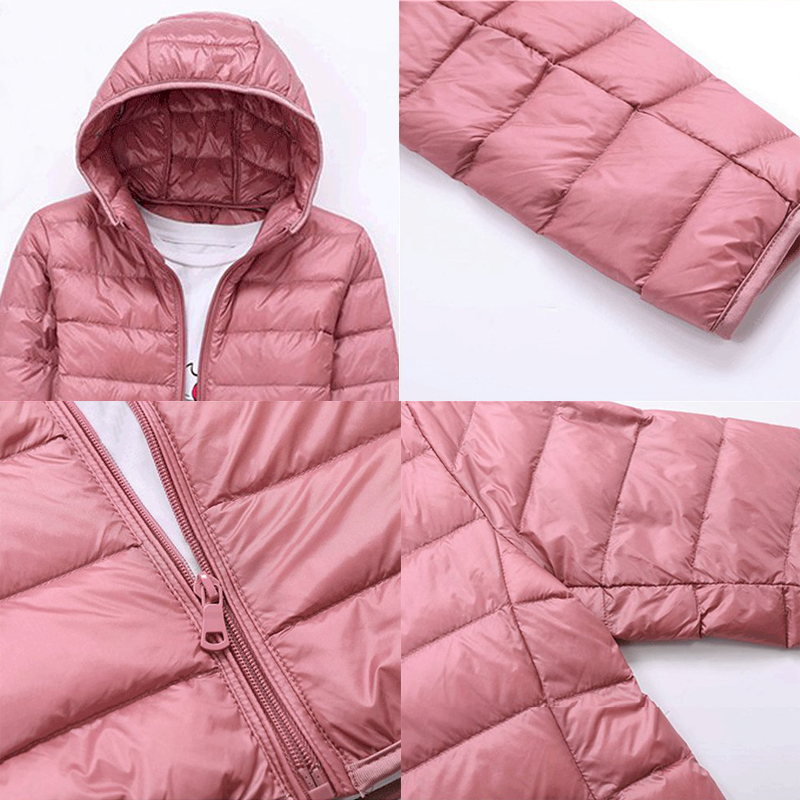 Image 5 - SINGRAIN 2019 Oversized Down Jacket Women Hooded 90% Duck Light Down Coat Winter Portable Female Warm Down Coat 5XL 6XL 7XL 8XL-in Down Coats from Women's Clothing