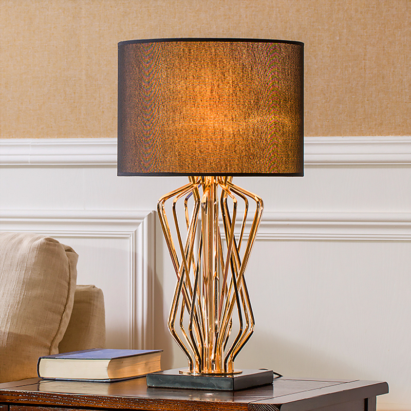 Led Table Lamps American Bedroom Table Lamp Creative Simple Modern Living Room Study Bedside Lamp Modern Personality Hotel Room Decoration Lamp Lights & Lighting