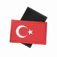 3D Embroidery Turkey Flag Patch Army Military Tactical Unifrom Backpack Caps Helmet Armband DIY Badges Team Competition Sticker