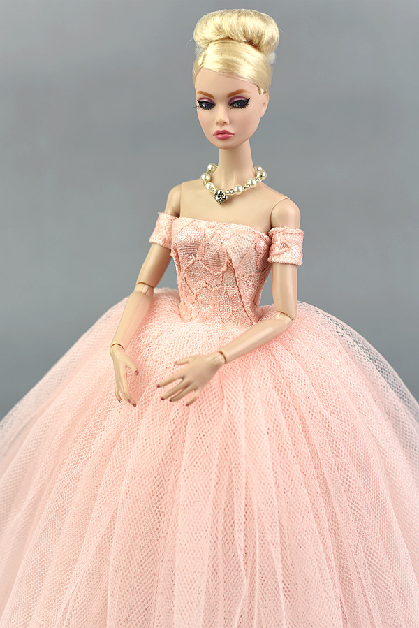 ca11469efb3cf Dress Veil / Pink Lace Party Dress Evening Gown Bubble skirt Clothing  Outfit Accessories For 1/6 BJD Xinyi FR ST Barbie Doll