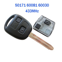NEW Remote Key 50171 60081 60030 433MHz 3041MHz For Toyota With 4D67 4C Chip Uncut TOY43 Blade