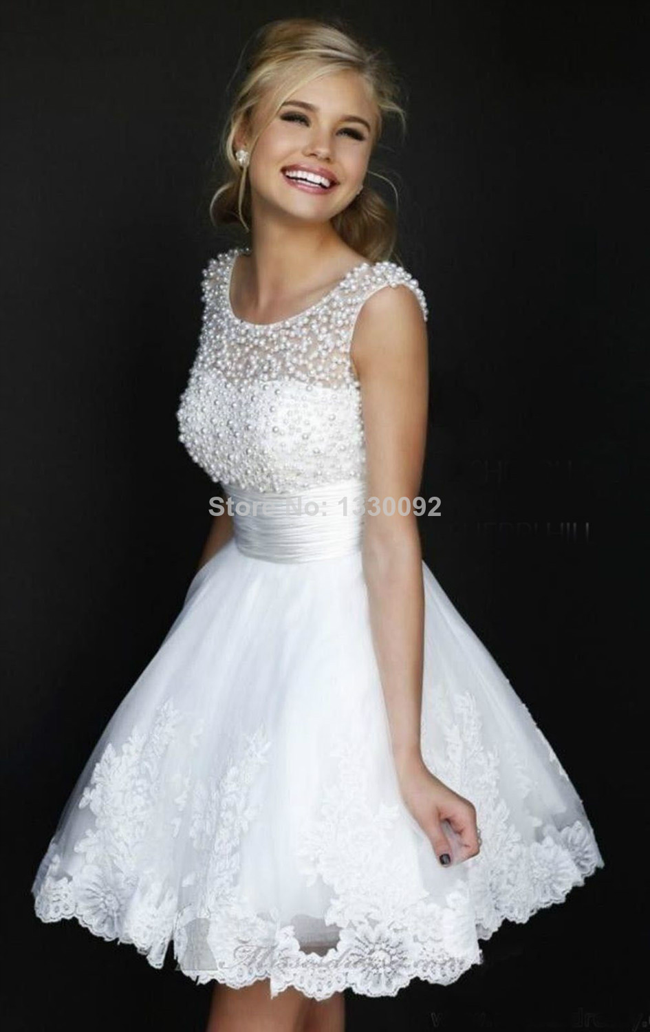 Online Shop White Short Homecoming Dresses Cocktail Dress Ideas ...