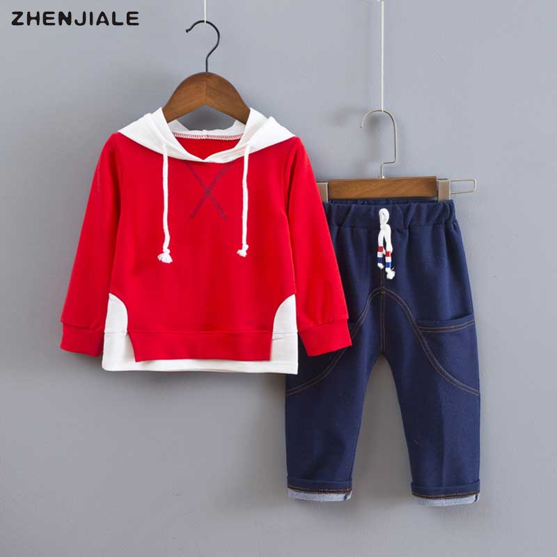autumn fashion baby Clothing set cute hoodie top+casual jeans baby boys sports suit baby girls boys sportswear 2018 spring T41