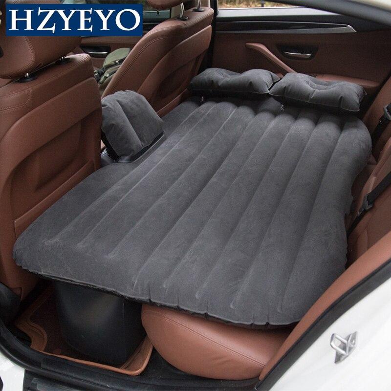 Car Travel Bed Inflatable Mattress Outdoor Auto Camping Accesorios Back Seat Air Sofa Sleep Camp Sleeping