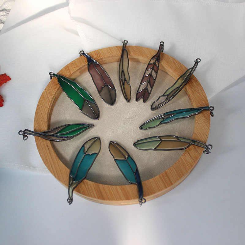 Sansummer resina folha cor requintado popular personalidad original simples pingente chaveiros 5025