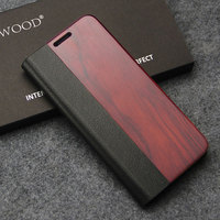 Luxury Leather Flip Case For Samsung Galaxy S8 S8 PLus Wood Case Protection Wallet Phone Cover