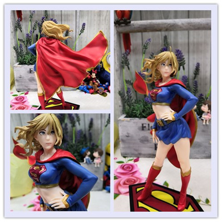 Supergirl Action Figure 1/8 scale painted figure Supergirl Returns Bishoujo Statue PVC figure Toy Brinquedos Anime 21CM supergirl book two