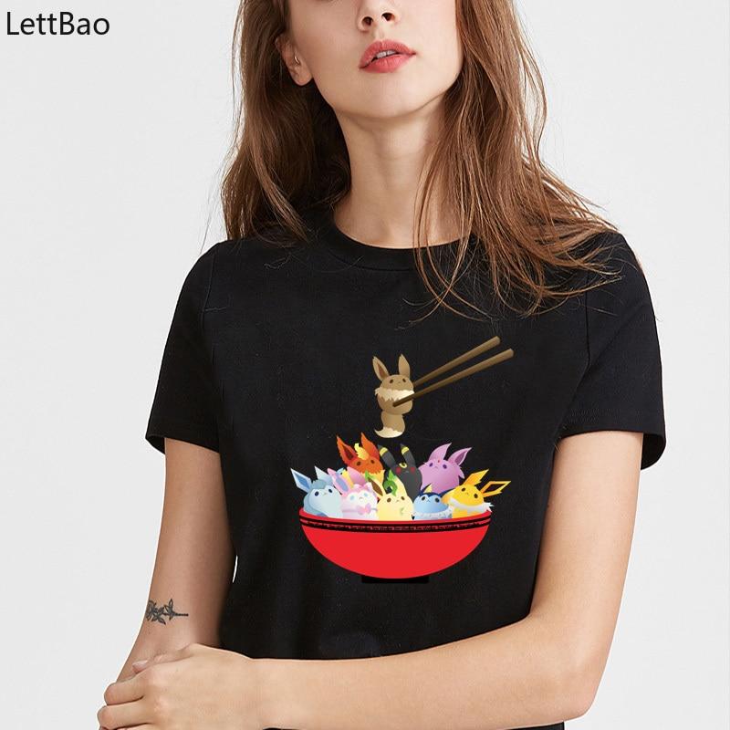 eevee-lution-bowl-cute-graphic-t-shirts-font-b-pokemon-b-font-cartoon-shirt-women-90s-casual-summer-style-op-2019-harajuku-kawaii-shirt