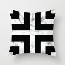 Fuwatacchi Marble Texture Cushion Cover Geometric Printed Black White Pillow Case Sofa Throw Decorative Pillow Cover Sofa Chair цены