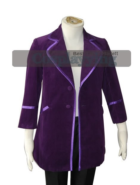 Gene Wilder as Willy Wonka 1971 Purple Jacket Costume Adult Costumes For Halloween