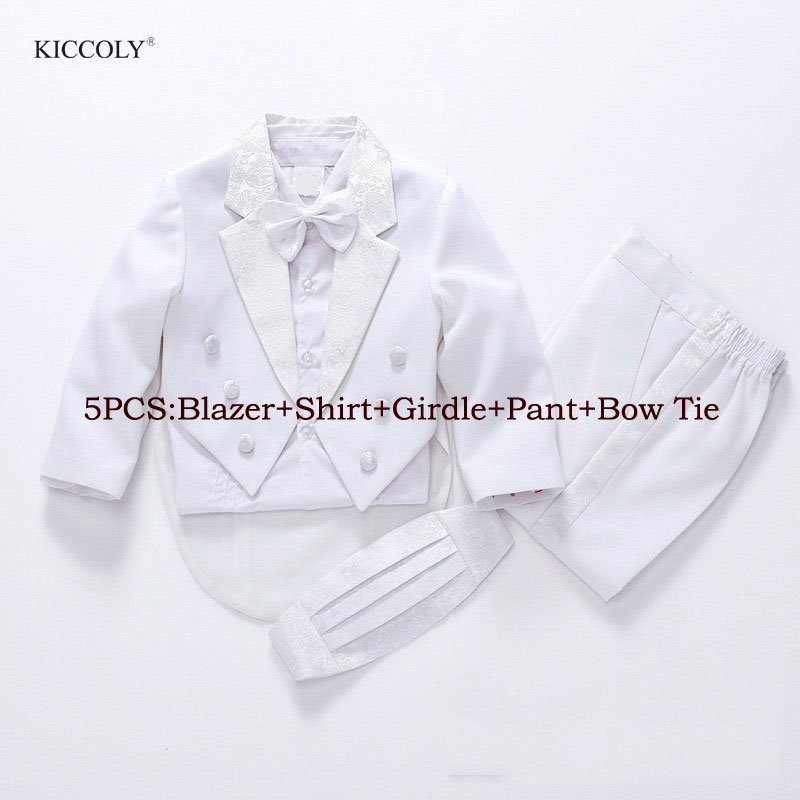 Boys Wedding Suits Solid White Blazers Pants Sets Children Groom Formal Prom Party Communion Performance Costume student performance clothes children clothing sets boys blazers wedding sets pieces boys tuxedo suits
