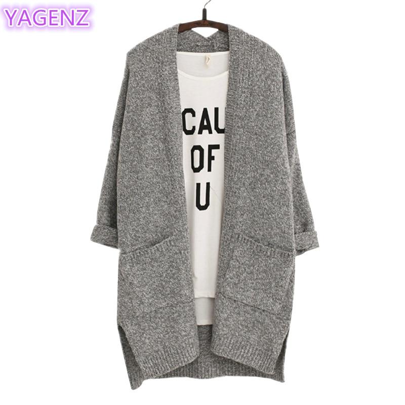 YAGENZ Longgar Kardigan Rajutan Sweater Mantel wanita Mantel Musim - Pakaian Wanita