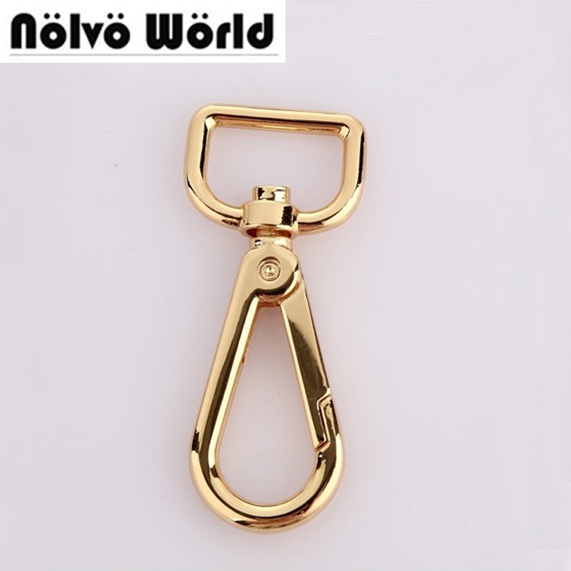 30pcs 5 Colors 6*2cm 3/4 Inch Trigger Snap Hook Swivel Clasp Lobster Claws Swivel Hooks Hardware Hook Clasp