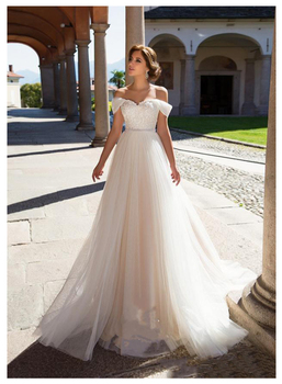 Elegant Lace Wedding Dress Vestidos de novia 2019 Simple Bridal Sweetheart Sexy Romantic Floor Length Gowns