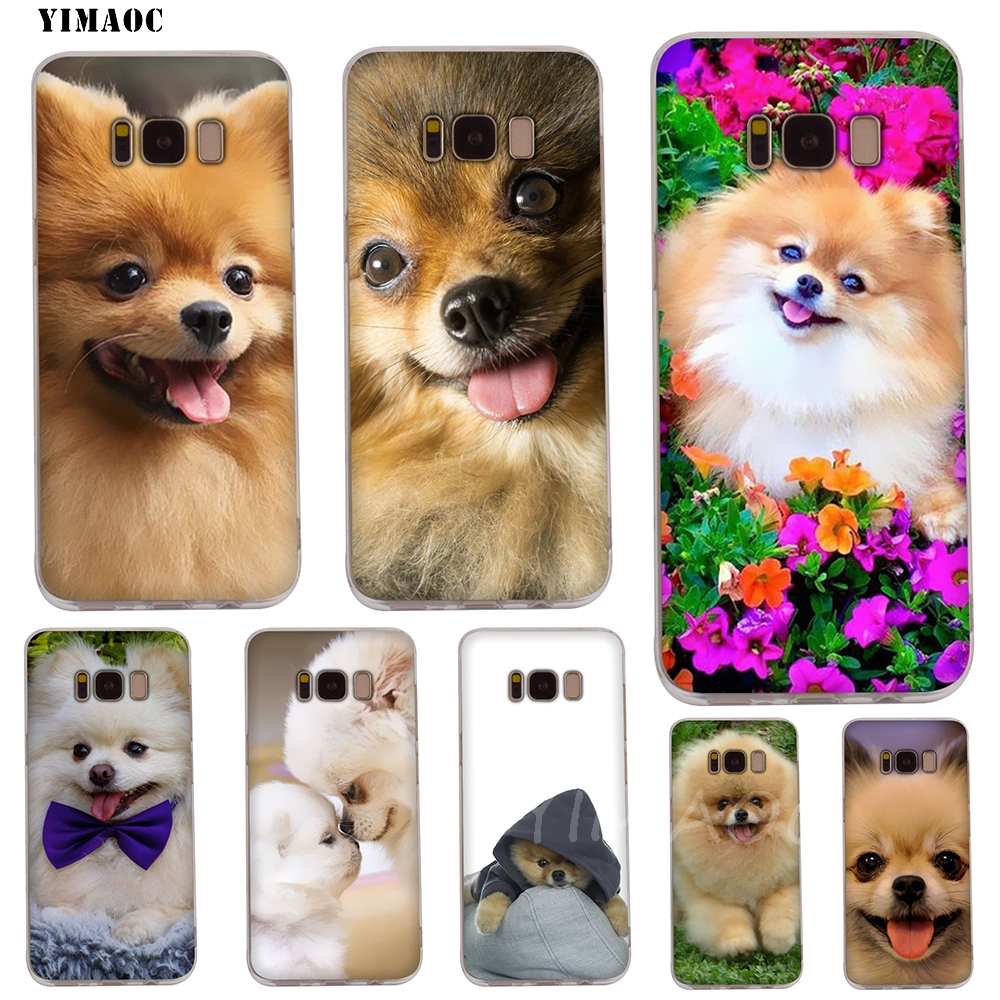 YIMAOC Pomeranian <font><b>dogs</b></font> Soft TPU <font><b>Case</b></font> for Galaxy j3 j5 j6 <font><b>j7</b></font> A5 2016 2017 A6 A9 2018 Note 8 9 S7 edge S8 S9 S10 Plus S10e Cover image