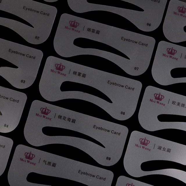 24 Styles Eyebrow Shaping Stencils Grooming Kit Makeup Shaper Set Template Tool Drop Shipping 2
