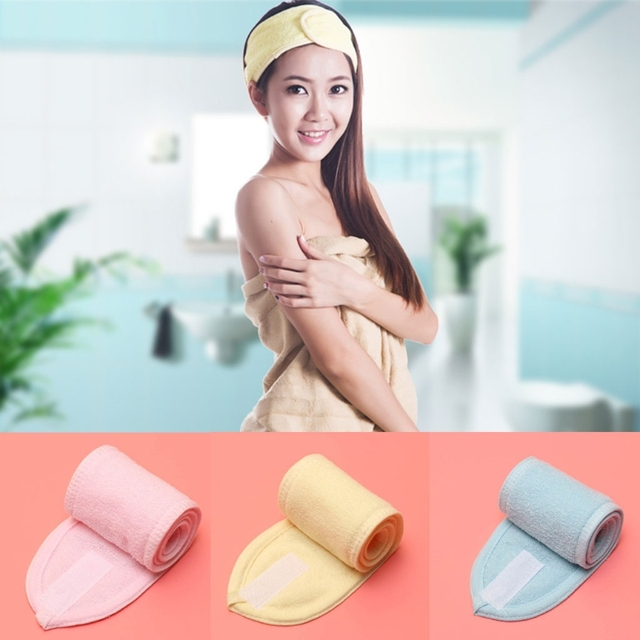bba164a71 2018 Fashion Women s Headbands Spa Head Wrap Wicking Soft Make-Up Sports Yoga  Travel Casual