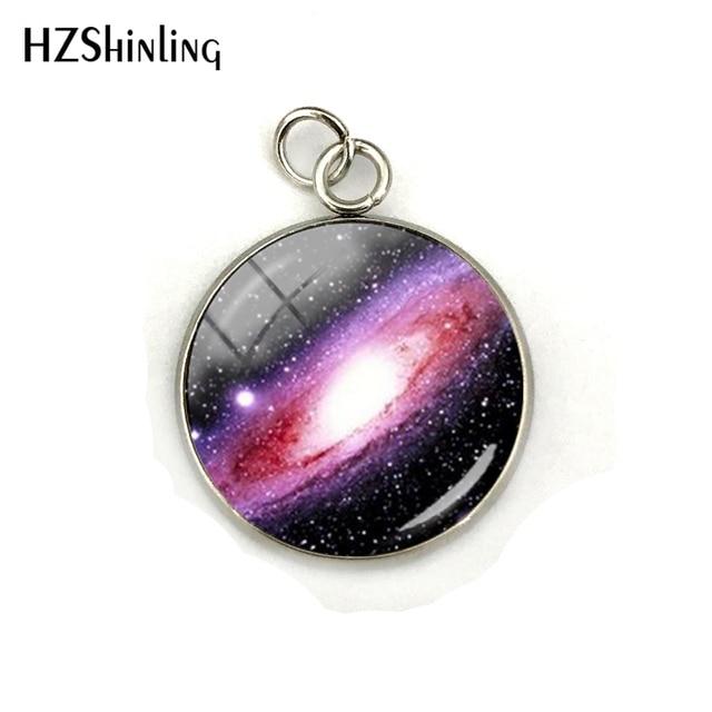 Nebula Space Pendant Astronomy Geek Jewelry, Nebula Charm Pendants Galaxy Space Glass Dome Stainless Steel Pendant Accessories 3
