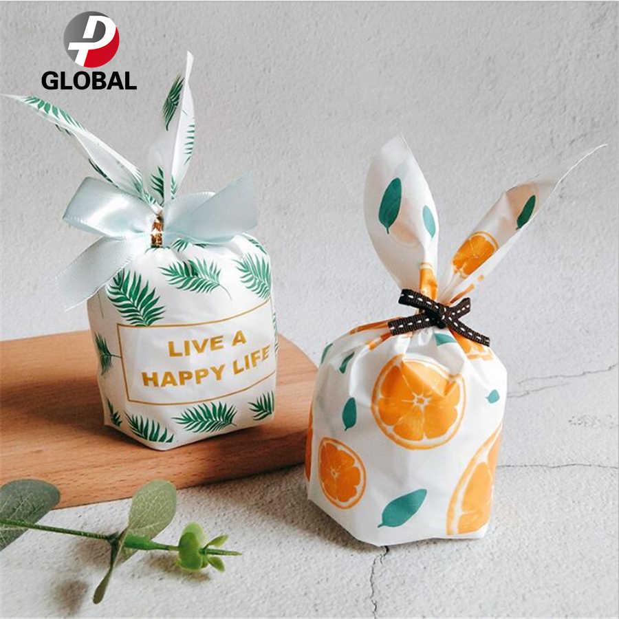 D & P 10 Chiếc Thỏ Tai Bánh Quy Túi Tặng Túi Đựng Kẹo Bánh Quy Ăn Nướng Gói Cưới Ủng Hộ quà Tặng Lễ Phục Sinh Trang Trí