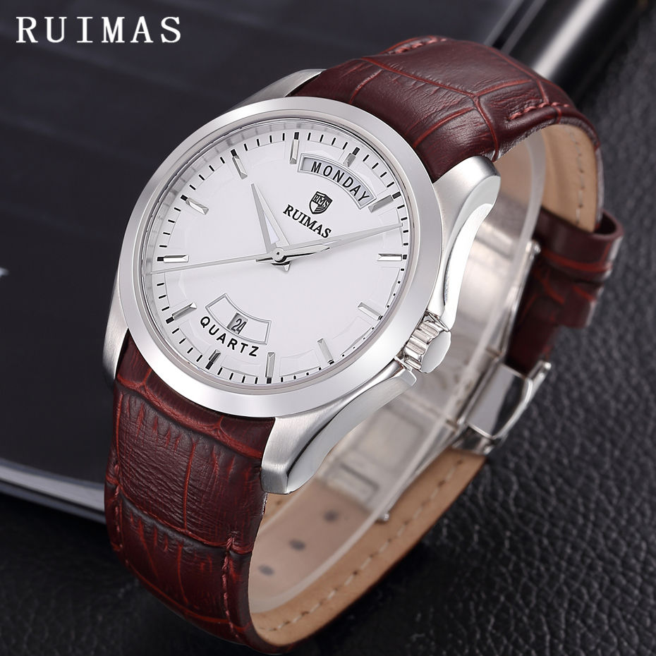 Relogio Masculino Men Business Watch Leather Wristwatch Rose Gold Quartz Watches Mens 2018 RUIMAS Classic Clock Erkek Kol Saati relogio masculino men business watch leather wristwatch rose gold quartz watches mens 2018 ruimas classic clock erkek kol saati