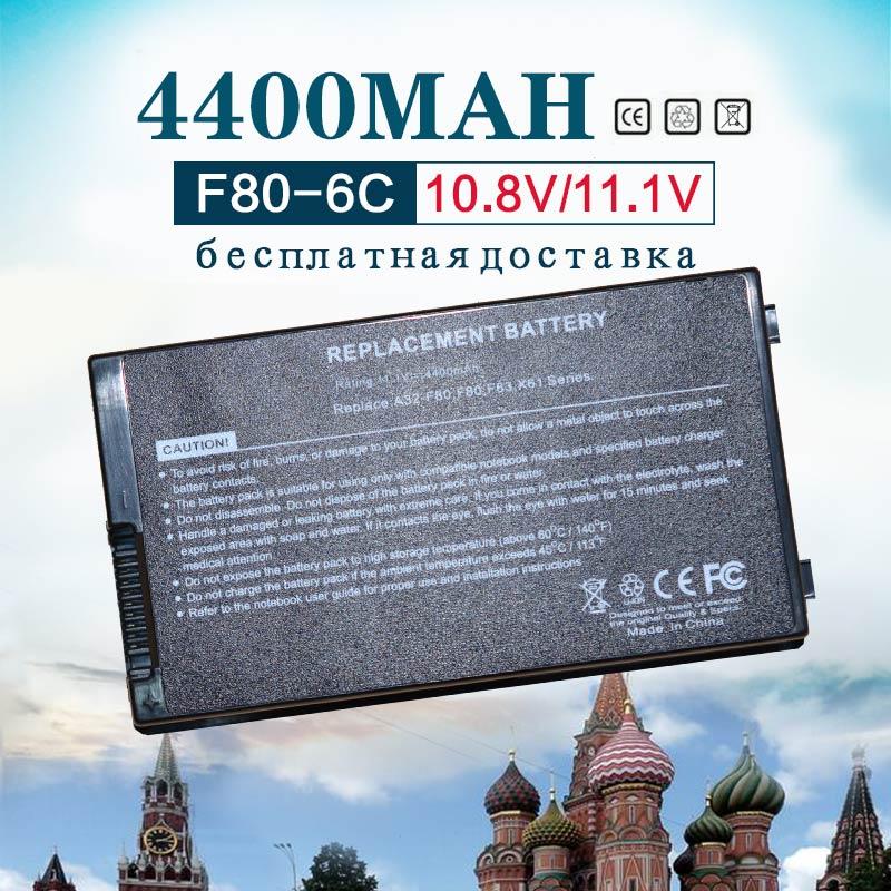 6 Cell Battery for Asus A32-F80 F80 F80CR F80s F81 F81E F81Se F83 F83Cr F83Se F83T F83V F83VD F83VF K41 K41E N60W X82L N60D X82C цена