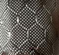 3 k 240gsm Real Carbon Fiber Doek Stof Zeshoekige Jacquard Weave 50 cm Breedte