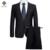 2016 Homens Ternos de Vestido Ternos + Calças dos homens Moda Casual Slim Fit Veste De Loisir Herren Anzug por Muito Tempo Sleeved Blazers Jaquetas Casaco