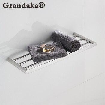 Bathroom Accessories,Quality 304 Stainless Steel Material Chrome Finish Towel Racks & Towel Bar Towel holder & Single Shelf