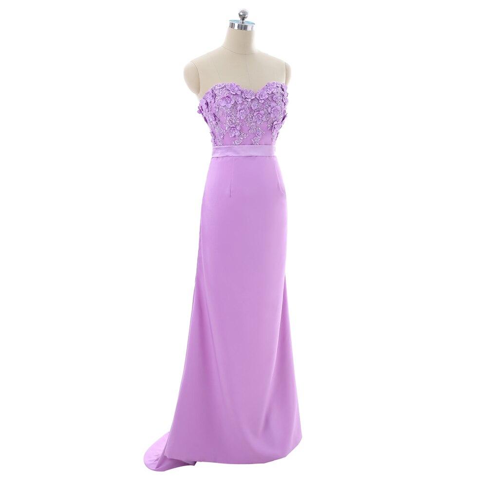 Lavender Evening Dresses 2018 Mermaid Sweetheart Flowers Lace Beaded ...