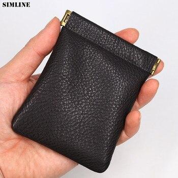 8b63b523f616 Product Offer. Винтаж из натуральной кожи портмоне Для мужчин Для женщин ручной  работы небольшой мини кошельки ...