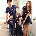 2016 vestidos de verano vestidos de moda madre e hija vestido de madre e hija familia cotton clothing manga corta polka dot
