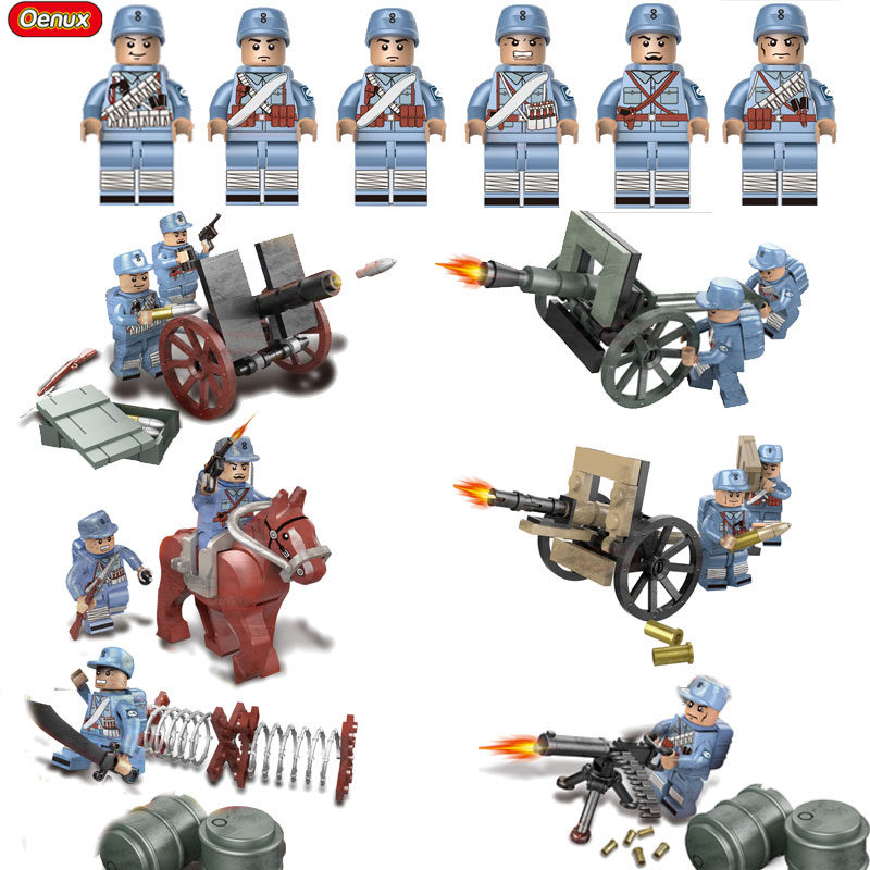 Oenux WW2 Hundred Regiments Offensive Military Scenes Model Chinese Eighth Route Army Mini Soldier Doll Building Block MOC Toy morais r the hundred foot journey