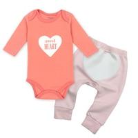2018 Vlinder 2pcs Lot Baby Girl Clothes Toddler Infant Cotton Baby Bodysuit Girls Pants Baby Clothing