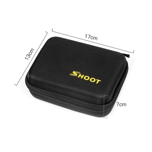 SHOOT Portable Small EVA Action Camera Case for GoPro Hero 8 7 6 5 Black Xiaomi Yi 4K Sjcam Sj4000 Eken H9r Box Go Pro Accessory 4