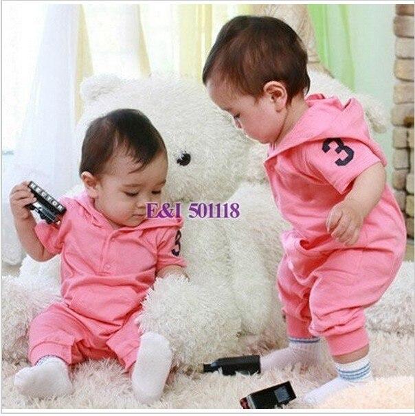8a52c97d0697a 2015 Nouveau-Né Bébé Vêtements 2 Couleurs Rose Et Bleu Garçon Et Fille Bébé  Barboteuses
