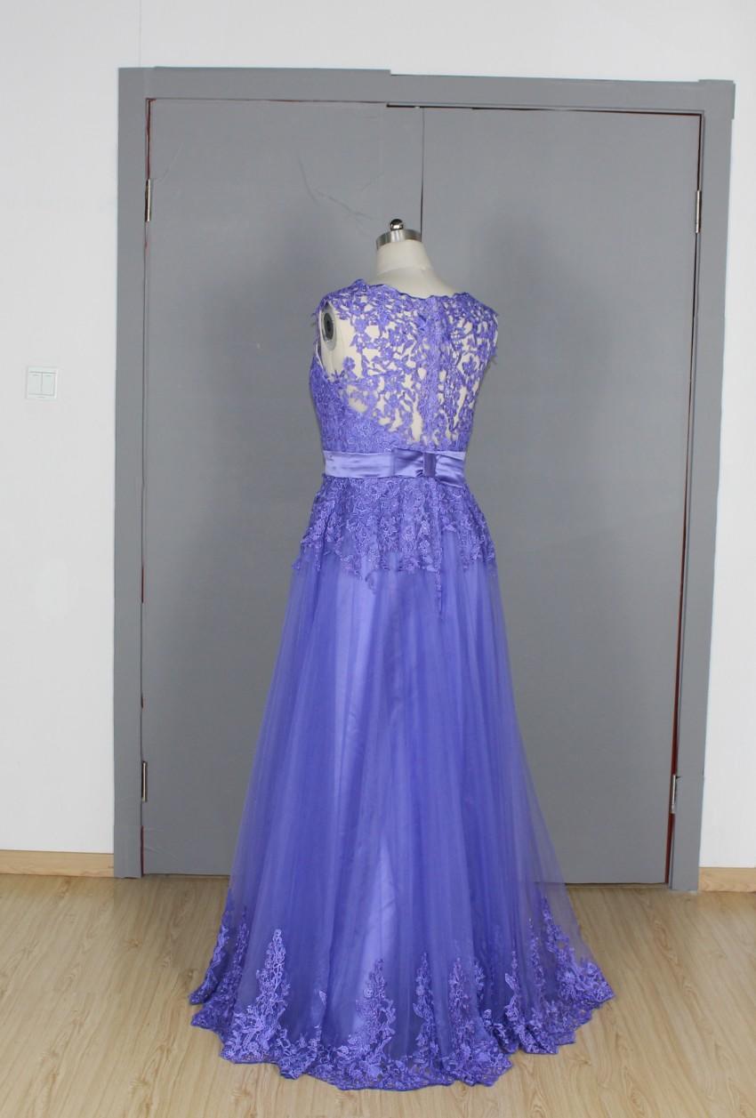 Pic verdadero miad de honor de dama de honor vestidos de escote ...