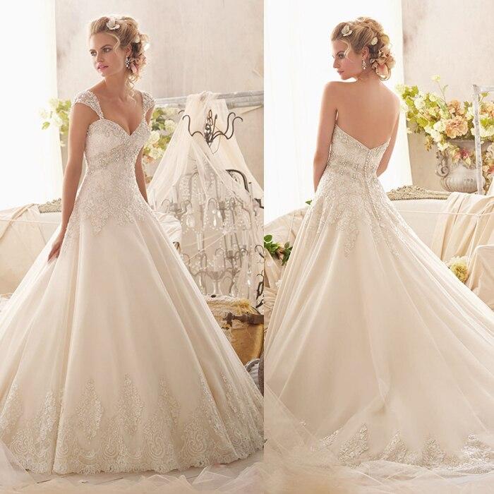 Envío gratis 2017 nueva vestido de novia weddingdress atractivo romántico de nov