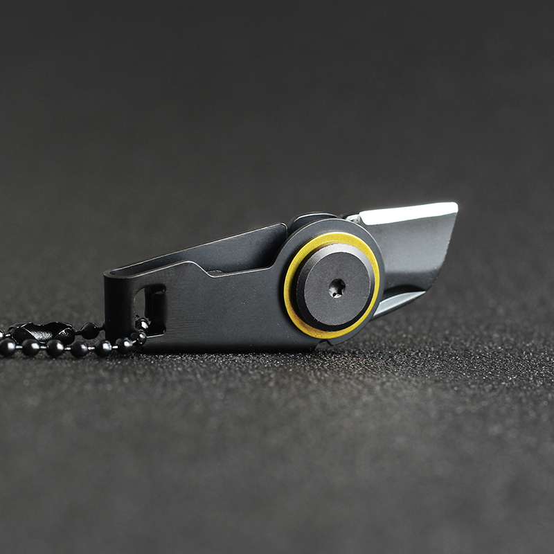 Top Quality Mini Zipper Knife Utility Knife Outdoor Survival EDC Gadget Keychain Pendant Pocket Knife
