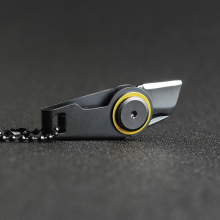 Top Quality Mini Zipper Knife Utility knife Outdoor Survival EDC Gadget Keychain Pendant Pocket